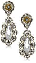 Miguel Ases Pyrite Bead 14k Gold-Filled Embroidered Drop Earrings