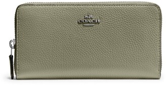 Coach Pebbled Leather Accordion Wallet