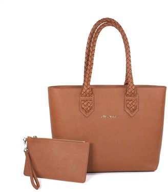 Crafted Society Luisa Tote - Camel Saffiano Leather