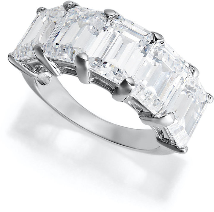 Arabella Sterling Silver Ring, Swarovski Zirconia 5 Stone Ring (15-1/5 ct. t.w.)