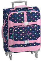 Pottery Barn Kids Mackenzie Hard Sided Navy Multicolor Heart Spinner Luggage
