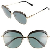 Sonix Women's Birdie 60Mm Sunglasses - Black/ Green Solid