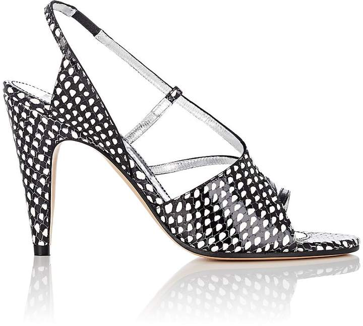 Givenchy Women's Stamped Leather Slingback Sandals