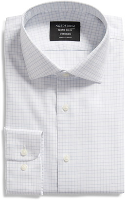 Nordstrom Trim Fit Non-Iron Check Dress Shirt