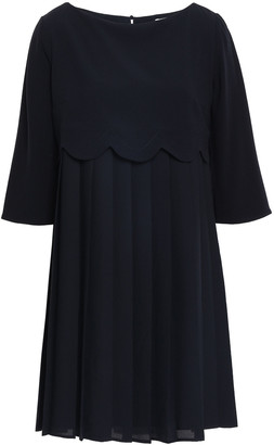 Claudie Pierlot Pleated Chiffon Mini Dress
