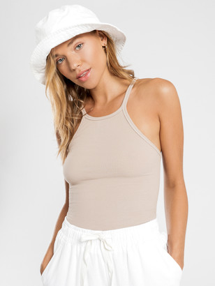Nude Lucy Charlie Rib Tank in Taupe