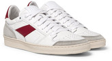 Ami Leather And Suede Sneakers - White