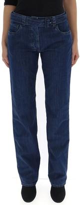Prada Belted Straight Jeans