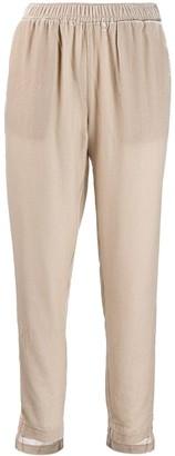 Gold Hawk Asymmetric Hem Trousers