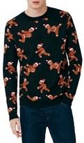Topman Men's Ninja Gingerbread Men Sweater