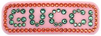 Gucci Crystal Logo Hair Clip