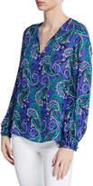 Kobi Halperin Malin Paisley-Print Tie-Neck Blouse