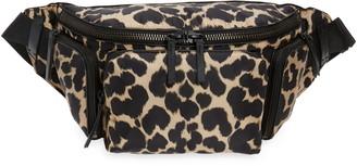Dries Van Noten Leopard Print Belt Bag