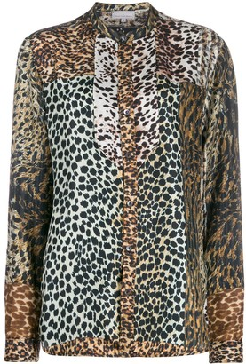Pierre Louis Mascia Mixed Animal-Print Shirt