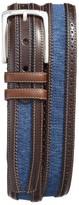 Mezlan Men's Diver Linen & Leather Belt