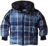 Dolce & Gabbana Back to School Nylon Check Coat (Toddler/Little Kids)