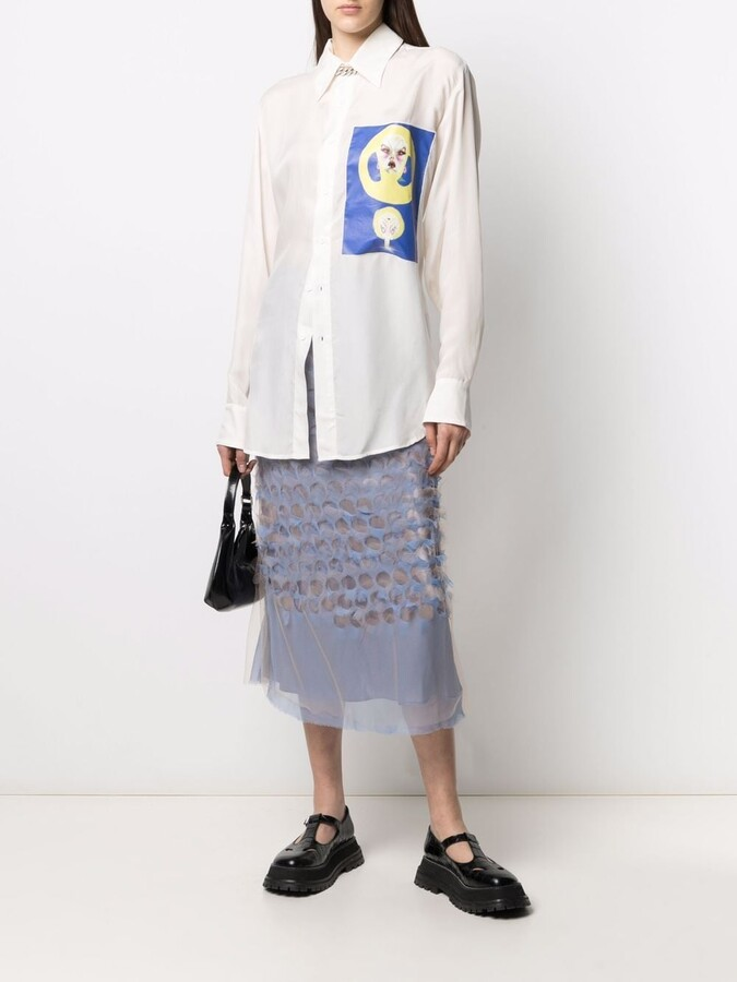 Thumbnail for your product : Charles Jeffrey Loverboy Graphic-Print Shirt