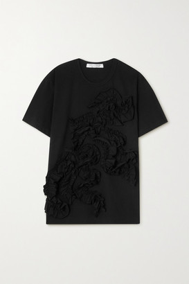 Comme des Garçons Comme des Garçons Ruffled Cotton-jersey T-shirt - Black