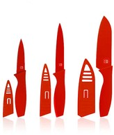 Art & Cook Red Soft Touch 6-PIece Knife Set