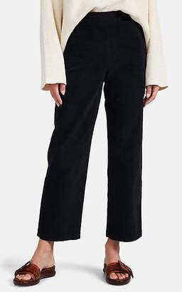 Raquel Allegra Women's Cotton Corduroy Crop Pants - Black
