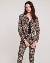 Vince Camuto Leopard-print Denim Jacket