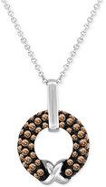 LeVian Le Vian Chocolatier® Chocolate Diamond Pendant Necklace (5/8 ct. t.w.) in 14k White Gold