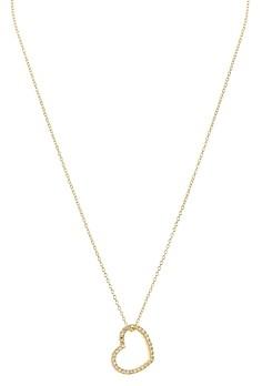 Aqua Sterling Silver Heart Pendant Necklace, 16 - 100% Exclusive