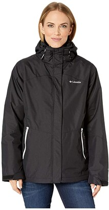 Columbia Bugabootm II Fleece Interchange Jacket (Black/White) Women's Coat