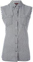Diesel sleeveless checked shirt