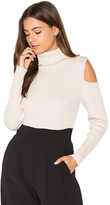 525 America Cut Out Ribbed Turtleneck Sweater