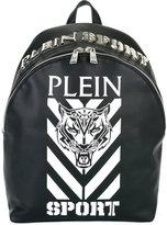 Plein Sport - logo print backpack - men - Polyester/Polyurethane/Metal (Other) - One Size
