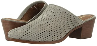 Trask Teresa Perf (Light Gray Oiled Suede) Women's Slip on Shoes
