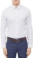 Ted Baker Geo Print Regular Fit Button Down Shirt