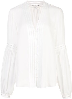 Veronica Beard Yumi pintuck-pleated silk shirt