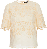 Isabel Marant Rumba Bohemian Top with Lace Embroidery