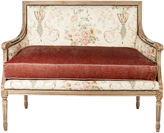One Kings Lane Vintage French Settee w/ Down Cushion