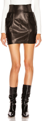 Fleur Du Mal Leather Skirt in Black | FWRD
