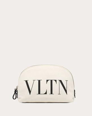 Valentino Vltn Make-up Bag Women Ivory Polyamide 100% OneSize