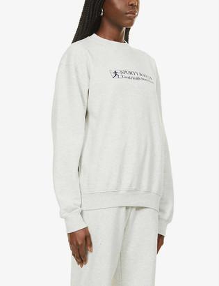 Sporty & Rich Good Health-print cotton-jersey sweatshirt