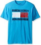 Tommy Hilfiger Men's Big Boys' Short Sleeve Crew Neck Flag Graphic T-Shirt