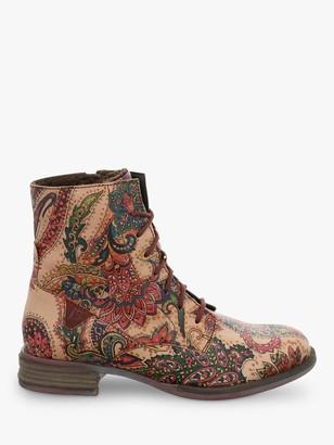 Josef Seibel Sanja 01 Ankle Boots, Carmin Paisley Print