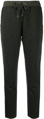Liu Jo Cropped Animal Print Trousers