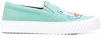 Kenzo embroidered Tiger slip-on sneakers