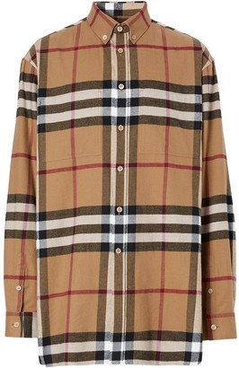 Burberry House Check Cotton Flannel Shirt