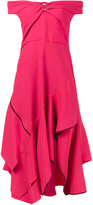 Peter Pilotto Pink Sweetheart Cold Shoulder Dress - women - Viscose/Acetate/Spandex/Elastane/Polyester - 8