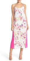Charlie Jade Women's Floral Silk Midi Slipdress