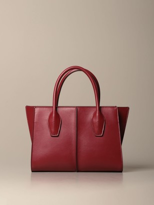 Tod's Tods Tote Bags Tods Lee Shopping Bag In Leather With Shoulder Strap