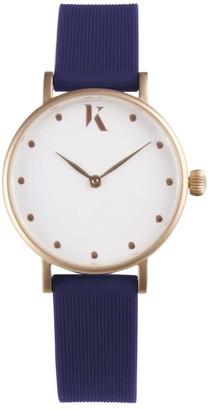 Ksana Sapphire Blue & Rose Gold Vegan Watch - 30mm