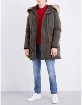 Armani Jeans Faux-fur Trim Shell-down Parka Coat
