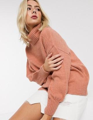 Asos DESIGN cowl neck oversized jumper